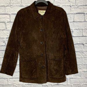 Eddie Bauer Brown Suede Leather Jacket
